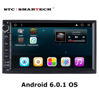 2 din Android 6.0 Car Radio Multimedia Player GPS Navigation System Quad Core 7 inch 1024*600 HD Screen Support Video Output