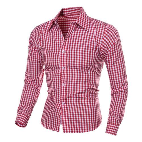 Suche Nach FlüGen 1 Pc Neue Marke Männlichen Mode Luxus Tops Business Langarm-shirt Bluse Schlanke Revers Männer Fit Plaid Tops Shirt Hx0410 Hemden