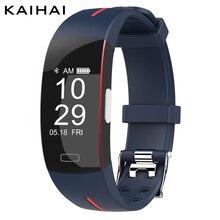 Kaihai 2019スマートリストバンドフィットネスブレスレット血圧モニターsmartband自転車心拍数sctivityトラッカーアラーム時計