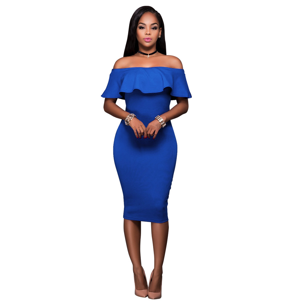 Popular Blue Tube Dress-Buy Cheap Blue Tube Dress lots from China ...