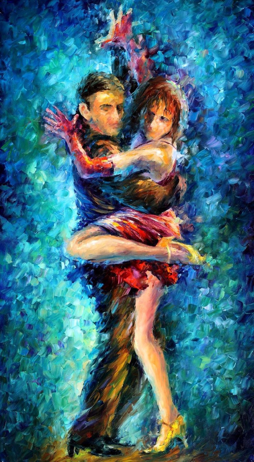 beautiful Painting Home Decor beautiful dance Colorful oil paintings Canvas Abstract ...