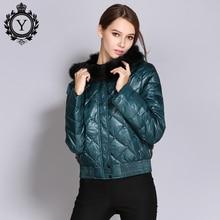 COUTUDI 2018 Fashion Down Jackets Women Autumn Coat Short Warm Duck Down Jacket with Fur Parka Female High Quality Outwear Coats