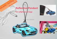 Car model reflective pendant for visible safety dangled on bag mobile phone clothing free shipping.jpg 200x200