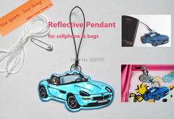 Car model reflective pendant for visible safety dangled on bag mobile phone clothing free shipping.jpg 250x250
