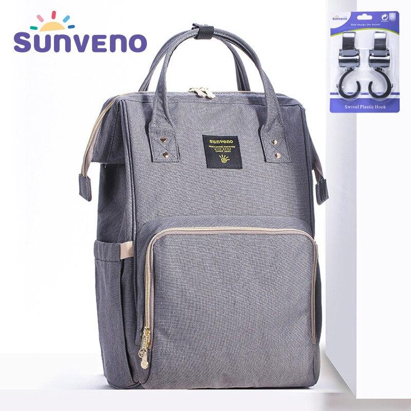 Sunveno marca impermeable bolsa de gran maternidad enfermería bolsa de viaje mochila para bebé mamá cochecito de bebé