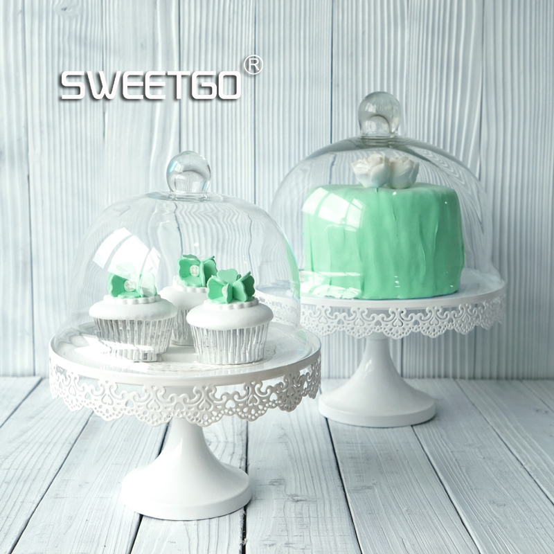 Glass Dome Cupcake Stand Display Holder Cake Tools Cake