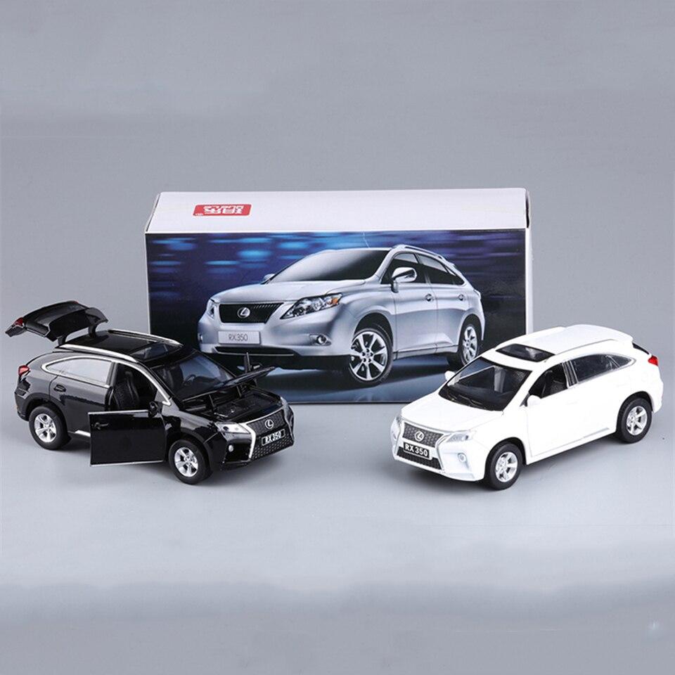 Toys para niños 1:32 escala azul aleación lexus rx350 suv vehículos todo terreno