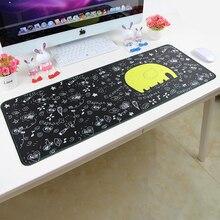 Bonito Mouse Pad Sem Cheiro 800*300*3mm Grande Mousepad Material Ambiental Borda Bloqueio Estendido Rato Dos Desenhos Animados pad