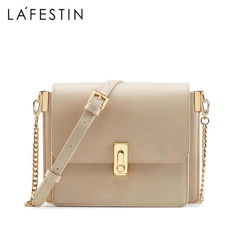 LA FESTIN Новинка 2019 года для женщин Сумка Высокое качество орган Тип цепочка геометрического стиля сумки через плечо для bolsa feminina