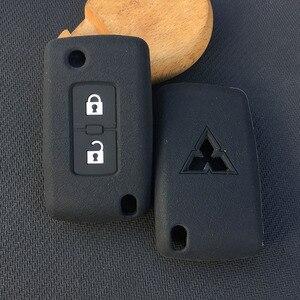 Image 5 - ZAD 2 pulsanti chiave Dellautomobile Del Silicone di Caso Della Copertura di Protezione per Mitsubishi Lancer 10 Outlander 3 Pajero sport auto chiave a distanza accessorio