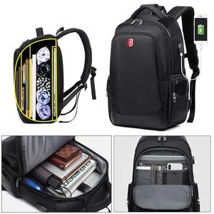 Image 2 - RUISHISABER Brand New 15 inch Laptop Backpack Women USB Charging Travel Backpack Men Oxford Waterproof Backpacks School Mochila