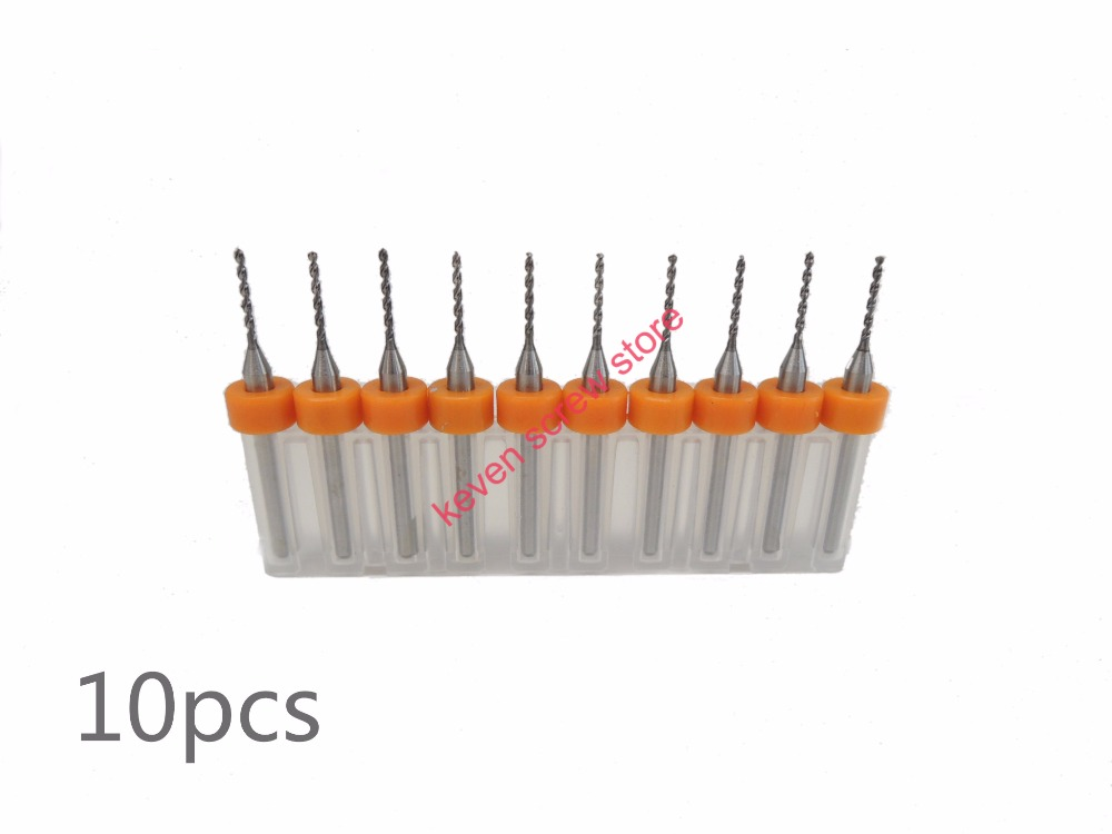 цена на 10pcs/Set 0.1 to 1.9mm 0.3 0.5 1.2mm High Quality Hard Alloy PCB Print Circuit Board Carbide Micro Drill Bits Tool for SMT CNC