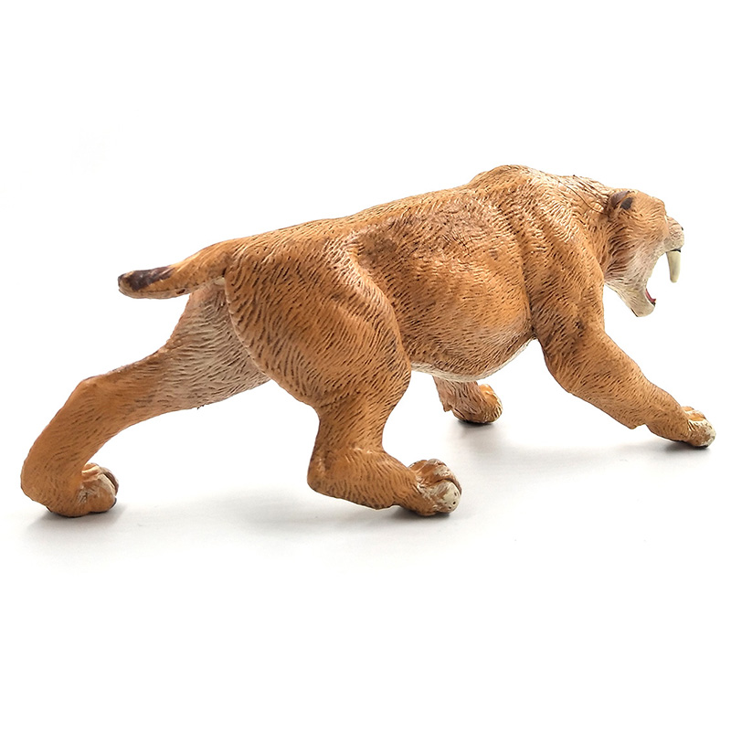 Simulation saber toothed tiger Animal Model Figurine figure home decor miniature fairy garden decoration accessories statue toys in Figurines Miniatures from Home Garden