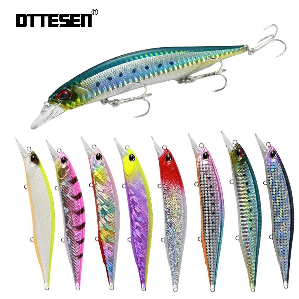 OTTESEN Fishing Lure Minnow 14cm/17g 3 Hooks M084