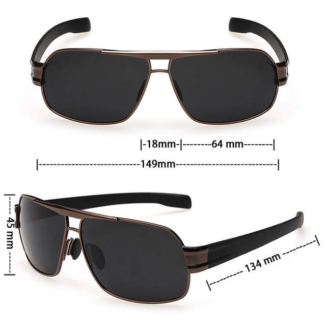 ab237a39de VEGA Mens Polarized Military Sunglasses For Police Driving Square UV  Sunglasses Black Glasses For Men Anti