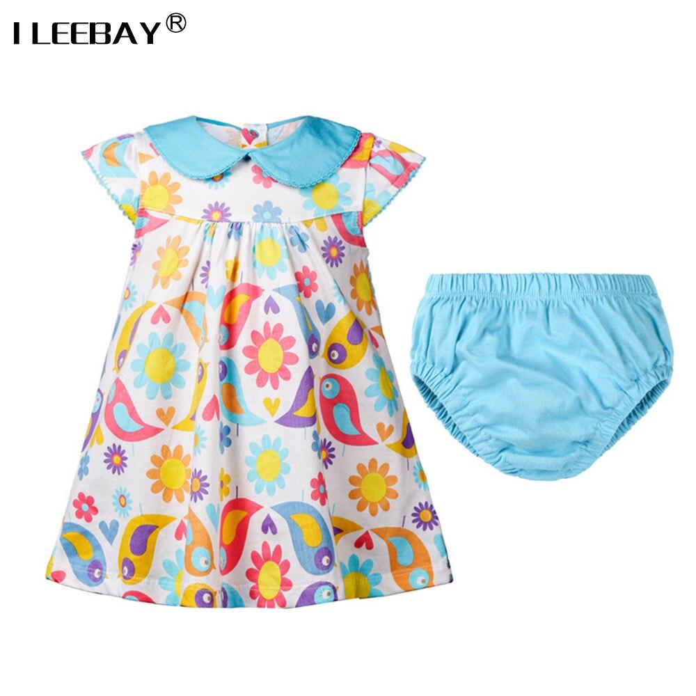 2017 Summer Infant Girl Clothes Sets New Born Baby Fashion Clothing Cotton Dress+Shorts Flower Printed Toddler Girl Clothing Set носочки пилинг для педикюра gess spa socks gess 051