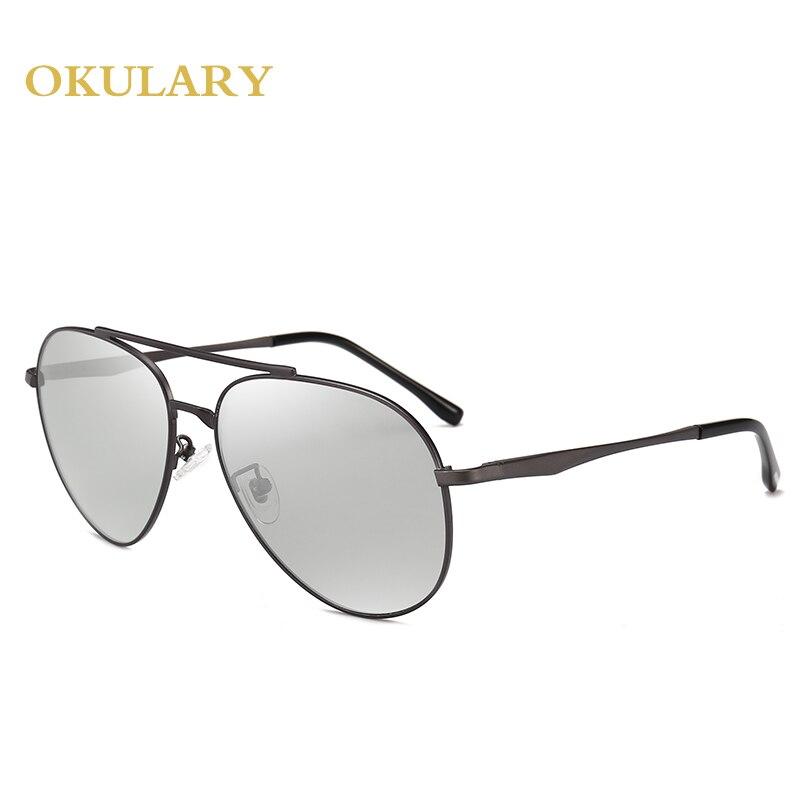 Hommes lunettes de soleil polarisées noir/marron cadre en métal UV400 haute qualité lunettes de conduite lunettes viennent avec boîte - 6