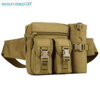 WOLFONROAD Men Tactical Waist Bottle Bag Sport Fanny Pack BELT BAG Outdoor Military Hiking Bags Cycling   Running   Bag L-SHZ-51