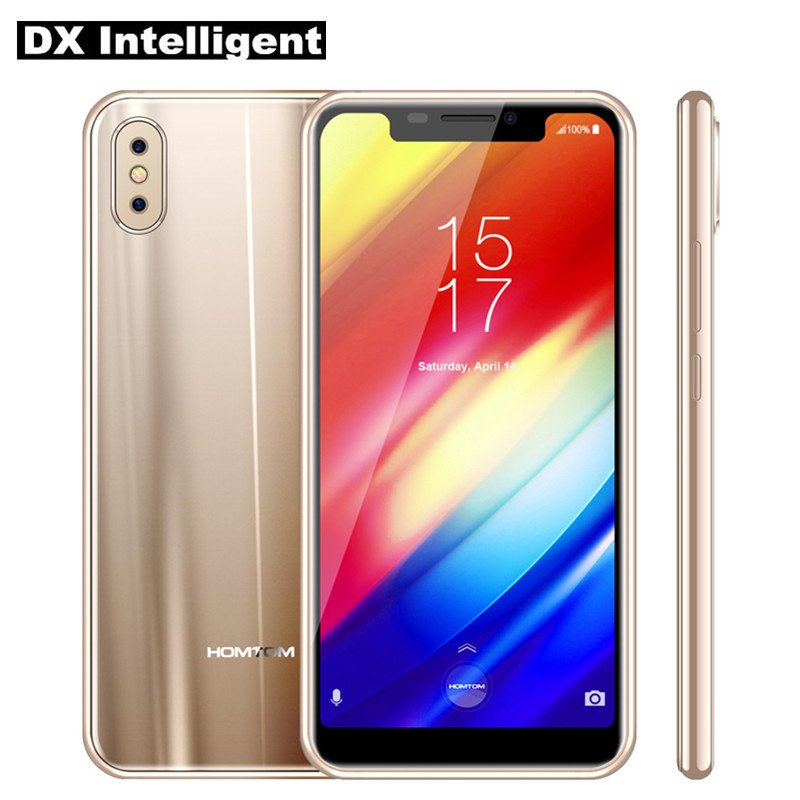 """HOMTOM H10 Face ID Side Fingerprint Mobile Phone 5.85"""" MTK6750T Octa Core 4GB RAM 64GB ROM Android 8.1 16MP Dual Rear Camera OTG"""