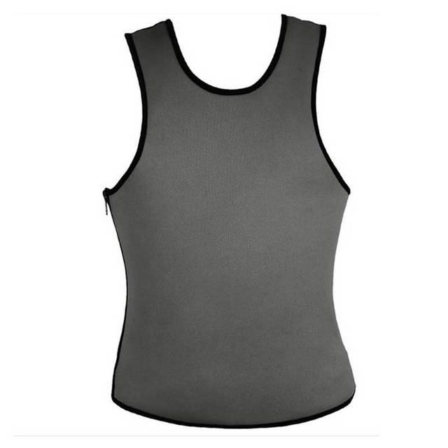 Men Shapers Ultra Sweat Thermal Muscle Shirt Neoprene Belly Slim Sheath Female Corset Abdomen Belt Shapewear Zip Tops Vest S3 5