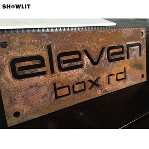 Rusted Stainless Steel Custom Made Laser Cut House Signs, Numbers and Plaques(China)