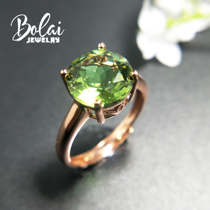 Bolai color change created diaspore ring solid 925 sterling silver big gemstone zultanit fine jewelry rings for women wedding