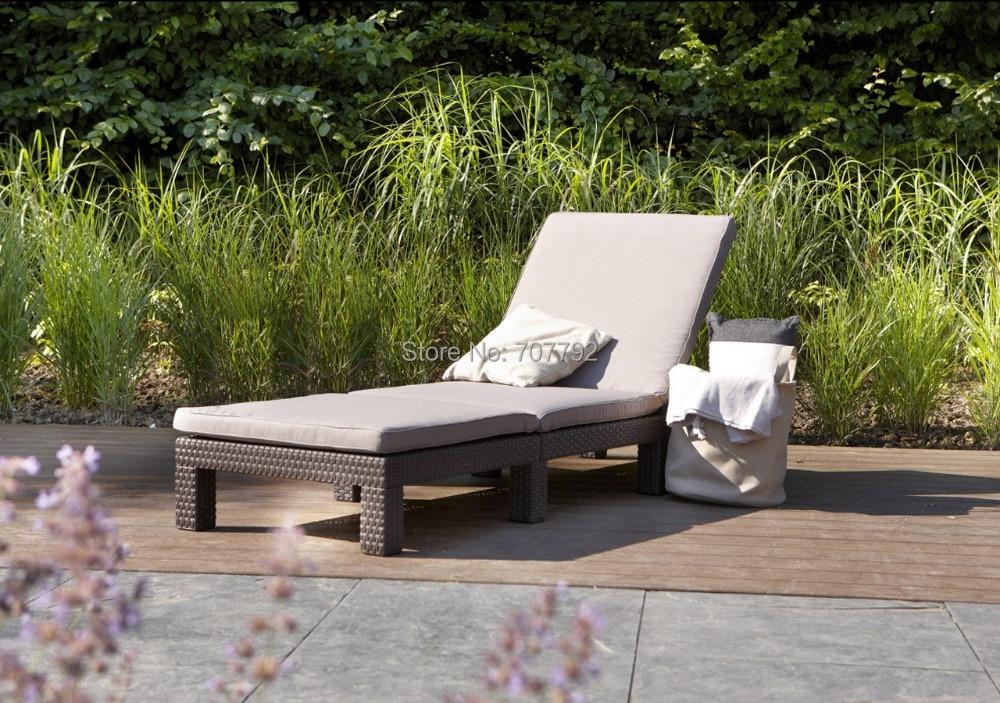 2016 new and comfort daytona black rattan outdoor garden sun loungerchina mainland