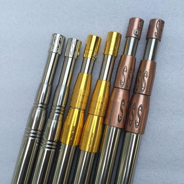 US $16 99 25% OFF| 3 colors 1 5m length Stainless steel foldable adjustable  Operation landing net handle spear fork hook harpoon handle 8mm screw -in