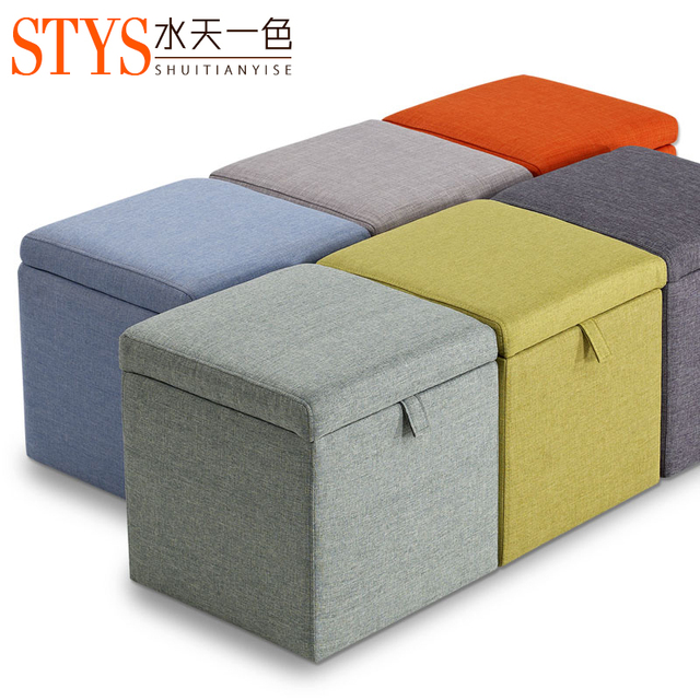 Shuitianyise Changing His Shoes Storage Stool Stool Sofa Stool Style Shoes Step  Stool Low Stool Simple