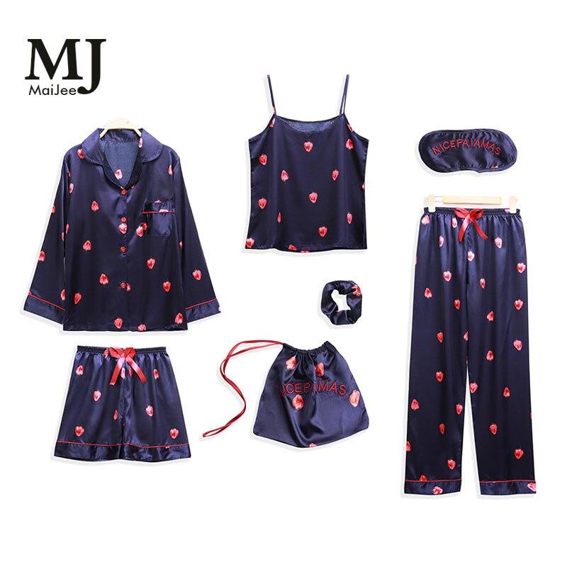 MaiJee 7 Pic Pyjama Pijamas De Las Mujeres Pyjama Femme Pyjamas Pour Femmes Pigiama Donna Pyjama Shorts Piyamas Femmes pyjamas