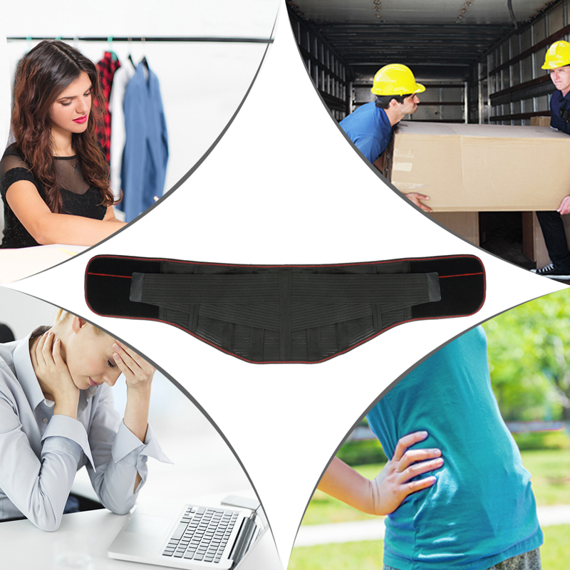 Tcare Lumbar Lower Back Waist Brace Support Belt Stabilizing Lumbar Protects Relieves Lower Back Waist Pain for Men Women in Braces Supports from Beauty Health