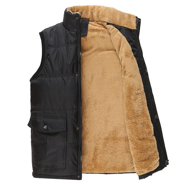 Fashion Sleeveless Jacket 2018 Men Thickening Vest Hat Hooded Warm Vest Winter Waistcoat Men Casual Windbreaker JK18029
