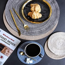 Round Placemat for Dining Table Mat Woven Heat-Resistant Pat Anti-Skid Washable Mats set de table rond Mata Silikonowa