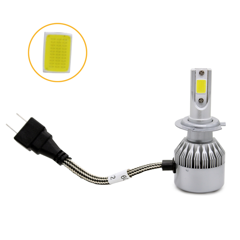 2 Unids / par Hight Bright Car LED Faro H7 COB Chip 8-48v DC 72W - Luces del coche - foto 5