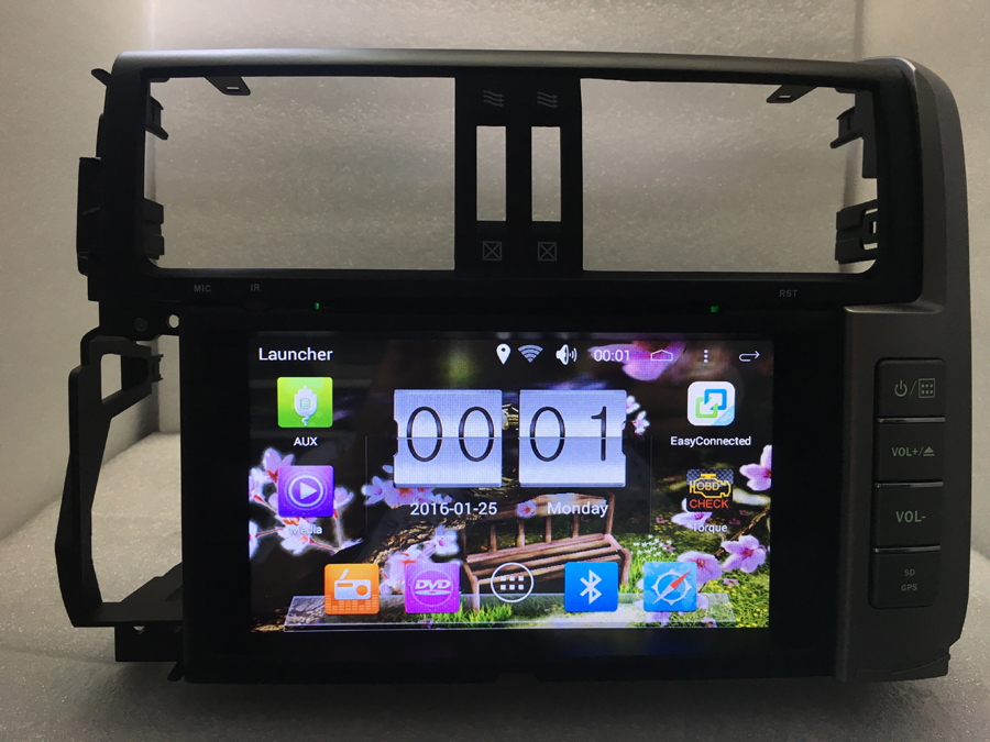 """Бесплатная доставка 8 """"android 6.0 quad core 1024*600 Dvd-плеер 2din 16 ГБ 3 г/wi-fi радио gps для Toyota prado150 Land Cruiser prado"""