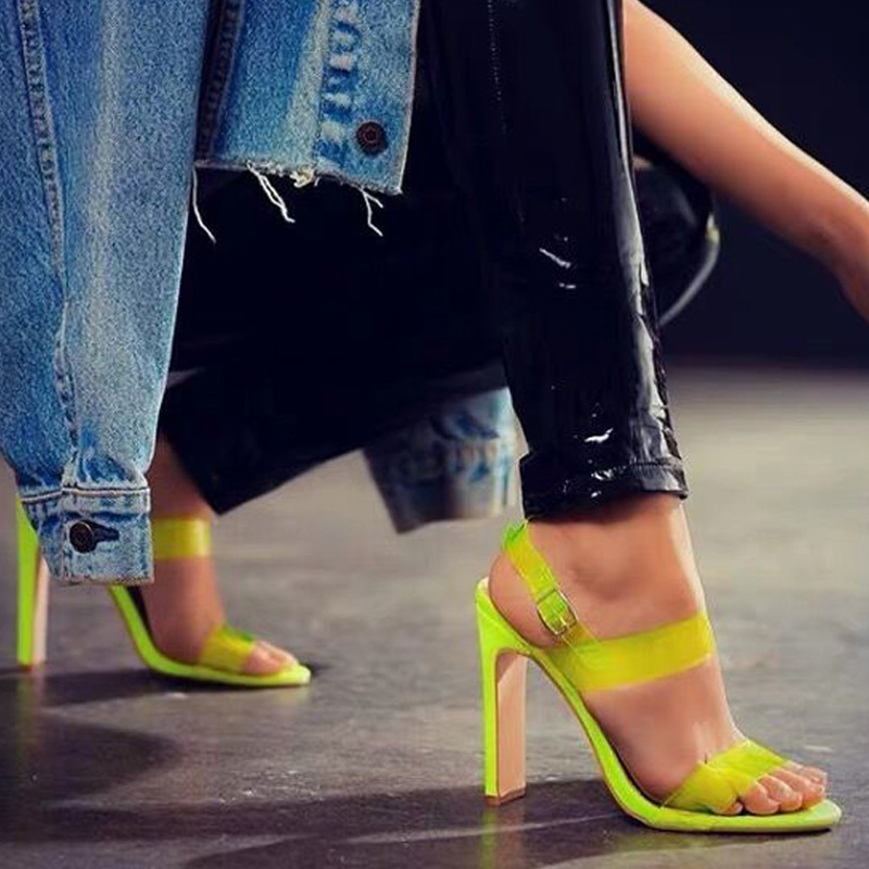 Womens pumps summer women shoes high heels 2019 PVC Jelly pumps plus size 35-42 women Sandals Peep Toe party shoes block heelsWomens pumps summer women shoes high heels 2019 PVC Jelly pumps plus size 35-42 women Sandals Peep Toe party shoes block heels