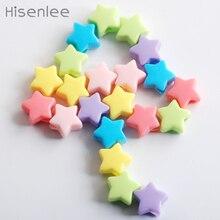 Hisenlee 50/100 шт./пакет 13 мм Красочные смешанные цвета Акриловые пятиконечная звезда браслет/детский игрушечный делая шарик