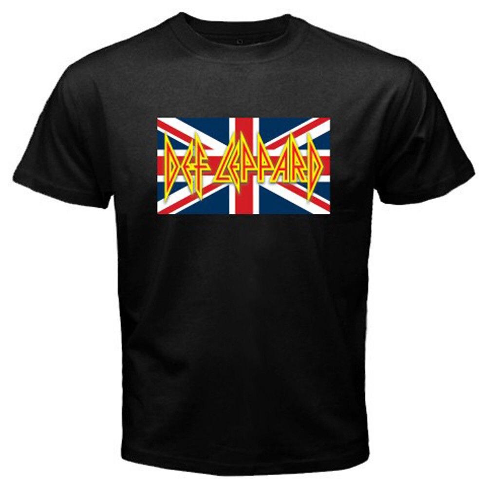 T shirt design uk cheap - 2017 Newest Men Cool Def Leppard Uk Flag Logo Rock Band Legend Design T Shirt Cool