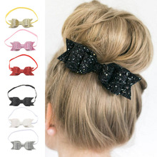 Children Nylon Material Soft Beautiful Headwear Girl's Hairband Bow Tie Princess Styles Headband for 1-8 Years Kids Infant Baby