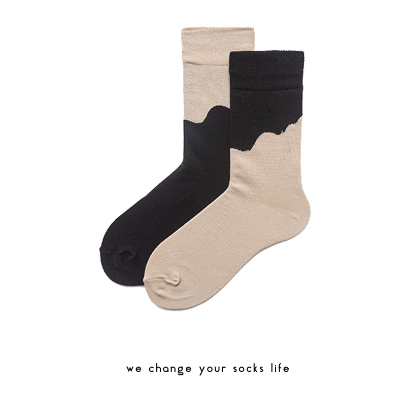 Charlie Camp 2018 Spring And Summer New Fashion Hit Color Pattern Simple Wild Series Different Couple Men Socks HY1017