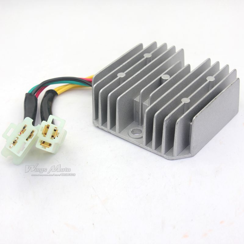 gy6 50 150cc scooter voltage regulator rectifier 6 wires. Black Bedroom Furniture Sets. Home Design Ideas