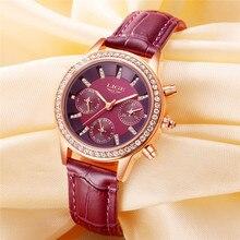 LIGE Top Luxury Brand Women Watch Fashion Casual Leather Quartz Watch Ladies Diamond Dress Watches Female gift Relogio Feminino