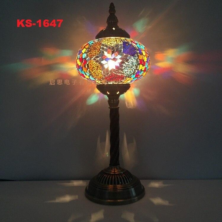 Aliexpress.com : Buy Turkish Mosaic Table Lamp Mediterranean Art Deco  Handcrafted Glass Romantic Bed Light Lampada Da Tavolo Stile Mediterraneo  Turco From ...