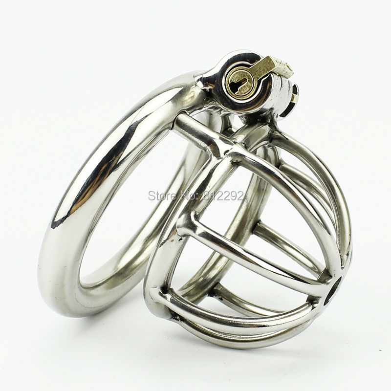 Super Small Male Chastity Device Stainless Steel Cock Cage Sex Toys Adult Cock Ring Bondage Chastity Belt