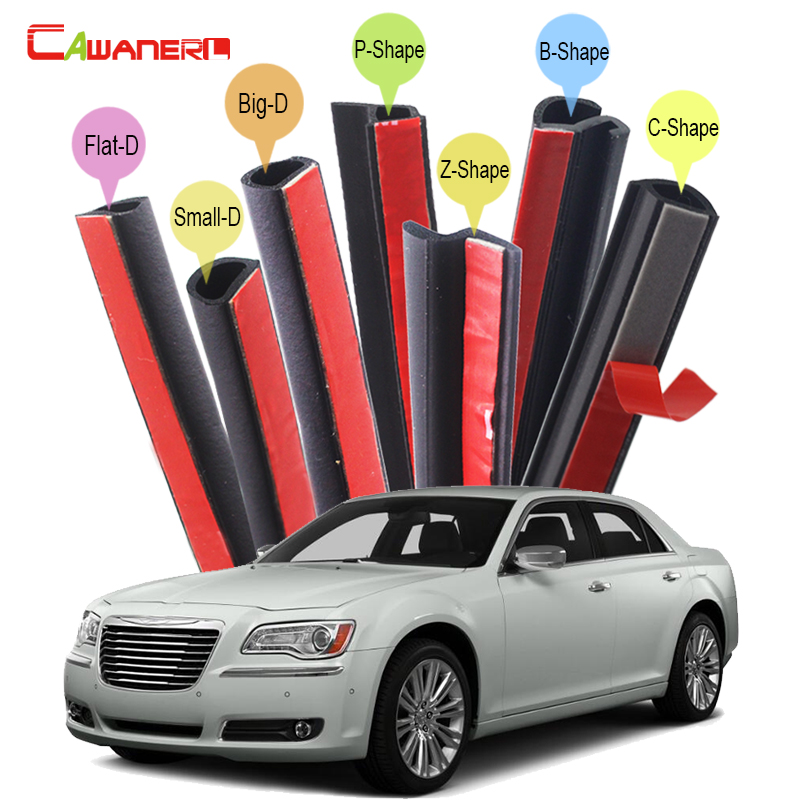 Cawanerl Car Seal Edge Trim Weatherstrip Sound Insulation Rubber Sealing Seal Strip Kit For Chrysler 200 300 300S 300C 300M cawanerl car rubber seal strip kit sound control dustproof seal edge trim weatherstrip self adhesive for volvo xc60 xc70 xc90