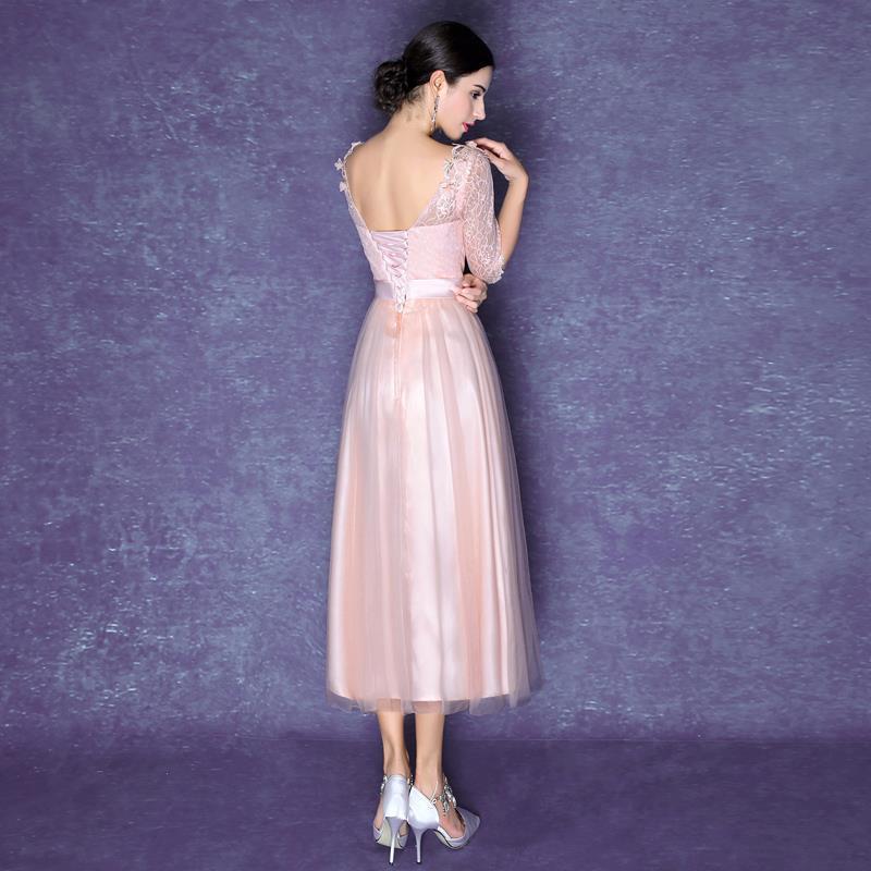 Bonito Vestido Rosa Claro Cóctel Del Cordón Friso - Ideas de Estilos ...