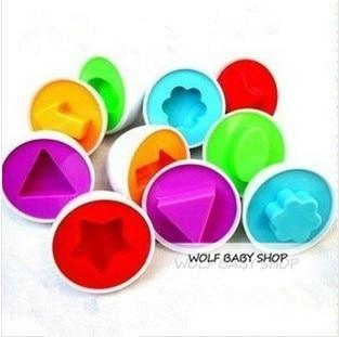 Top SaleóInfant Construction-Blocks Intelligence Baby Educational Pe 18pcs/Lot Insert Paired Egg-Color