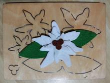 Scrapbook Cut Sky  Baise flower wood moulds die cut accessories wooden die Regola Acciaio Die Misura MY