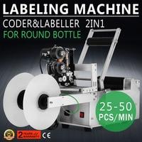 LT 50D Labeling Machine Automatic Round Bottle Printer Labeler Labler
