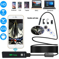 Letike USB Endoscope Inspection Camera HD 1200P IP68 Soft Flexible Tube Wireless Wifi Borescope Video Inspection